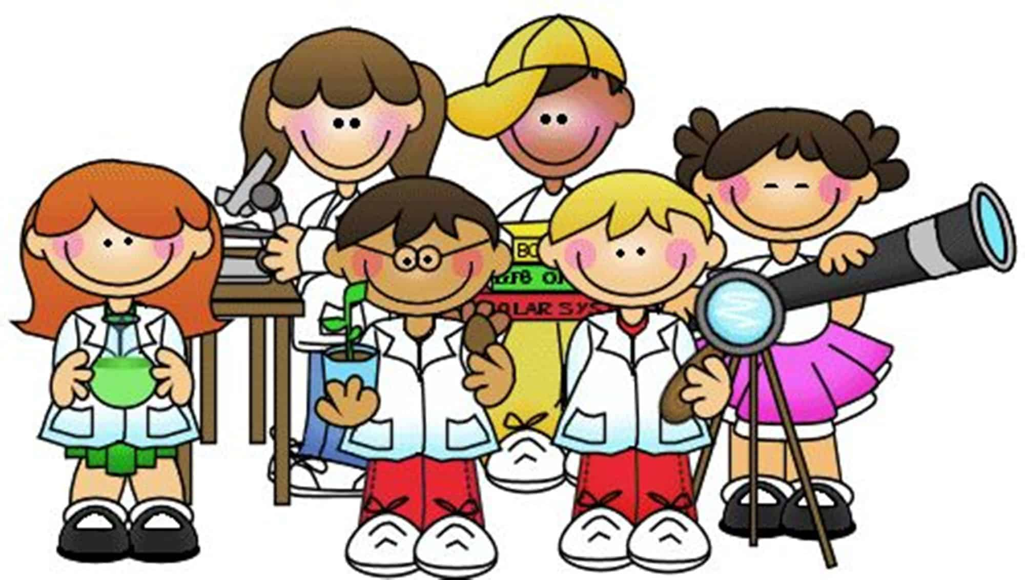 science fun scientist clipart clip kid scientific sciences child