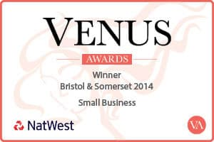 Winner of Venus Small Business award 2014