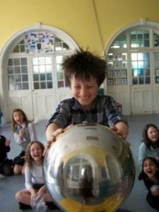 Fun on the Van de Graaff generator