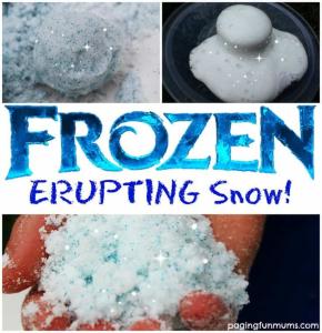 Erupting snow