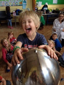 A child having fun at a Holiday club in Bristol